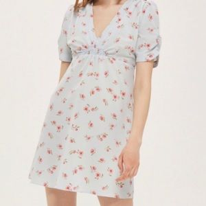 Topshop light blue ditsy floral dress